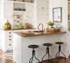 纯白的厨房,很适合单身小公寓