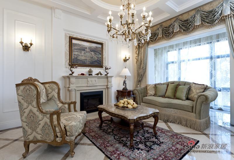 田园 别墅 客厅图片来自用户2557006183在锦尚豪庭案例设计_别墅装修样板间68的分享