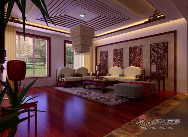 中式 别墅 客厅图片来自用户1907696363在新中式风格设计43的分享