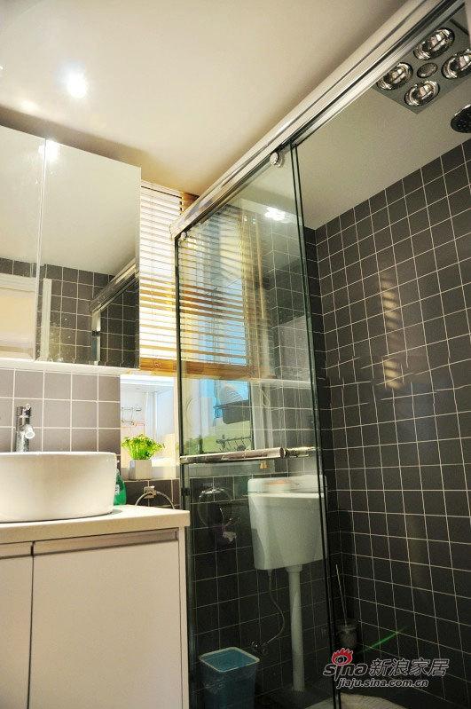 北欧 二居 卫生间图片来自佰辰生活装饰在54平清新完美宜家风2室1厅55的分享