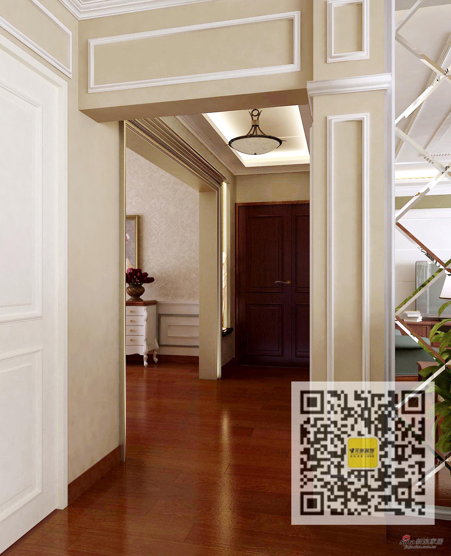 欧式 四居 玄关图片来自用户2746953981在四居室欧式风格装修案例95的分享