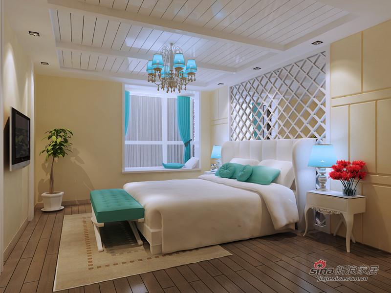 地中海 二居 卧室图片来自用户2756243717在相约爱琴海19的分享