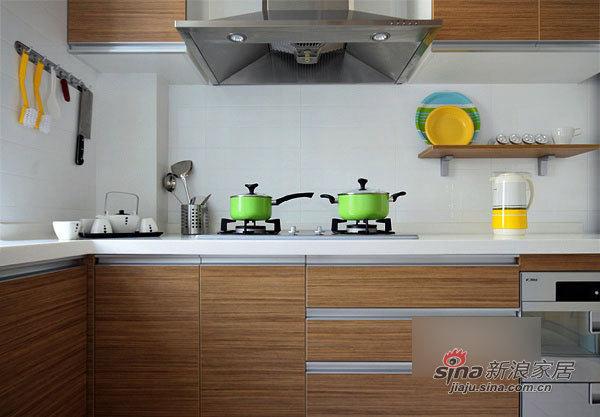 简约 二居 厨房图片来自用户2739153147在简洁实用12万装130平宜家3居21的分享
