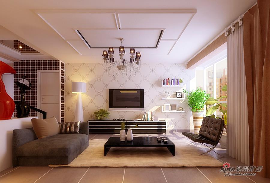 简约 三居 客厅图片来自用户2738813661在120平3居简约,清新素雅三口之家84的分享