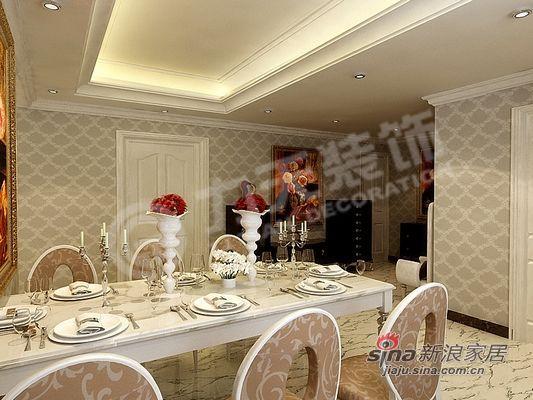 欧式 二居 餐厅图片来自阳光力天装饰在85平米时尚高贵两居室57的分享