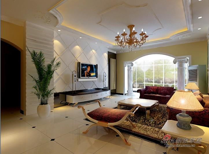 混搭 四居 客厅图片来自用户1907689327在180平甜美欧式风情大宅28的分享