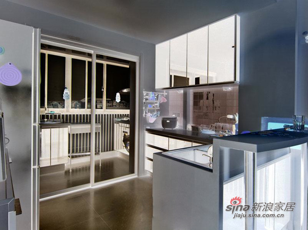 简约 三居 厨房图片来自用户2738829145在巧用103平现代三房装别墅范儿81的分享