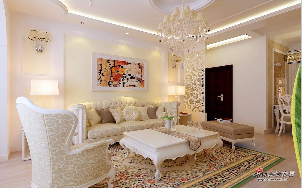 欧式 二居 客厅图片来自用户2746953981在6.4万元 打造松浦观江国际 欧式风格10的分享