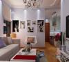 亮丽的白色,配稍许的红,给客厅添加温馨和