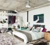 水泥板的大胆设计,虽然很冷,但是卧室的家具布置是否叫您眼前一亮的呢?
