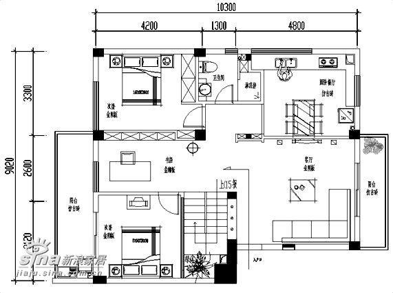 简约 复式 户型图图片来自用户2739153147在设计师的家:亦冷亦暖,张弛有道一24的分享