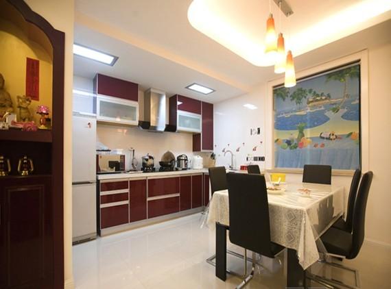 简约 三居 厨房图片来自用户2737735823在丨温馨实景图丨10万精装128平米现代简约二居16的分享