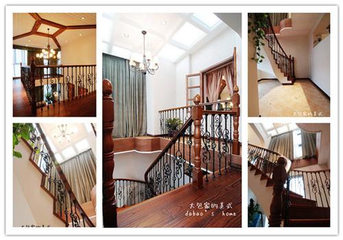 美式 跃层 楼梯图片来自用户1907685403在网友晒260㎡美式乡村风情家39的分享