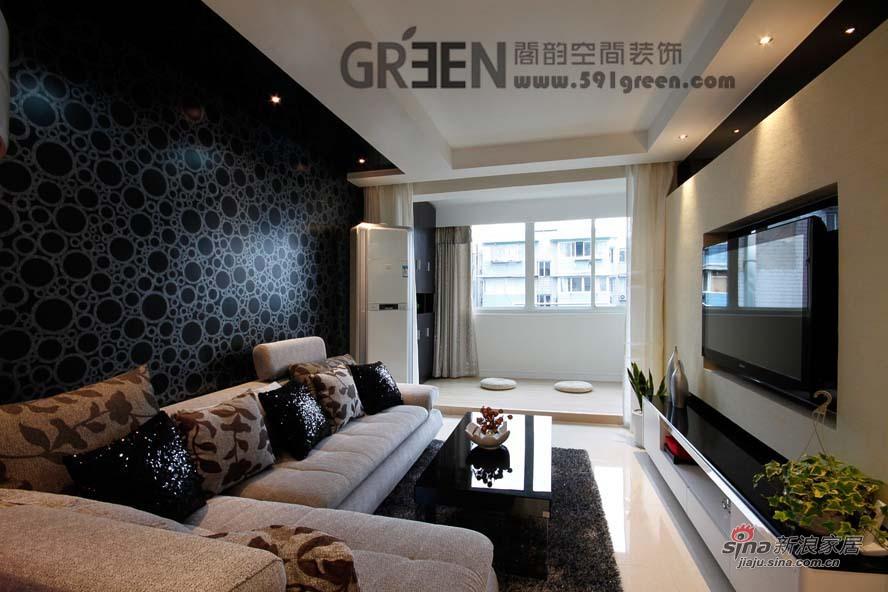 简约 二居 客厅图片来自阁韵空间装饰在黑晶魔法27的分享
