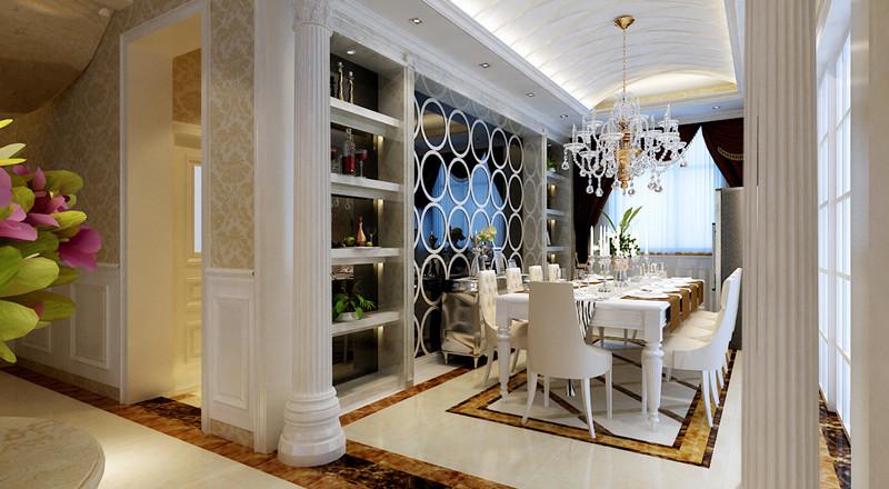 欧式 别墅 餐厅图片来自用户2772856065在23万打造现代奢华的别墅大宅设计39的分享
