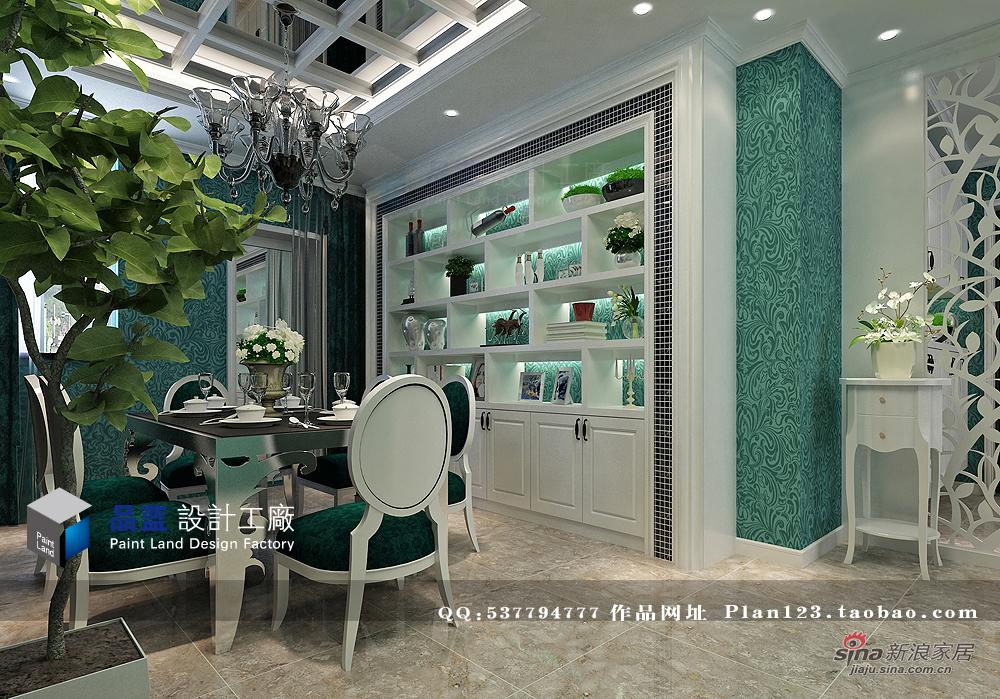 欧式 三居 餐厅图片来自用户2745758987在【高清】《翡翠夫人》--132平米样板房32的分享