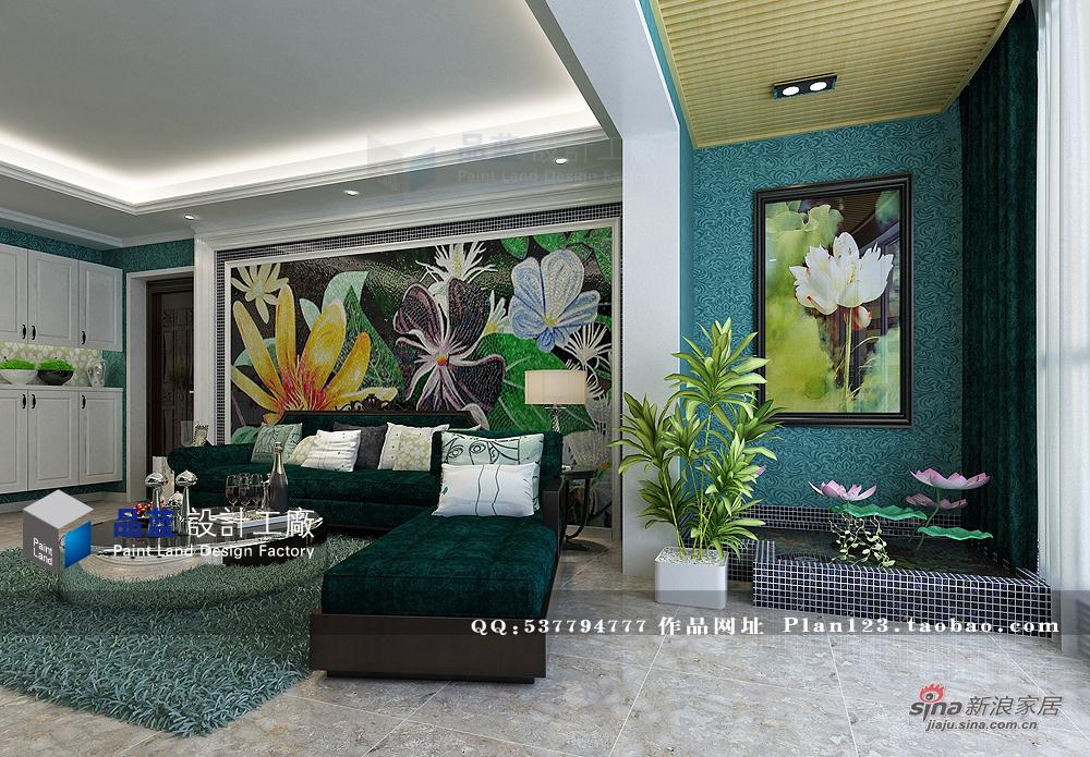 欧式 三居 客厅图片来自用户2745758987在【高清】《翡翠夫人》--132平米样板房32的分享