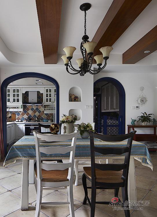 地中海 三居 餐厅图片来自用户2757320995在【高清】夫妻150平地中海浪漫3居室54的分享