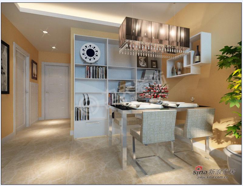 简约 二居 餐厅图片来自阳光力天装饰在2室2厅现代甜美可爱简约风格美家34的分享