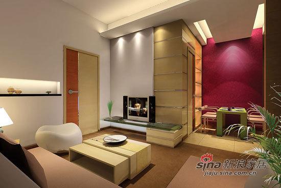 其他 二居 客厅图片来自用户2737948467在小两口5万搞定67平温馨小居室41的分享