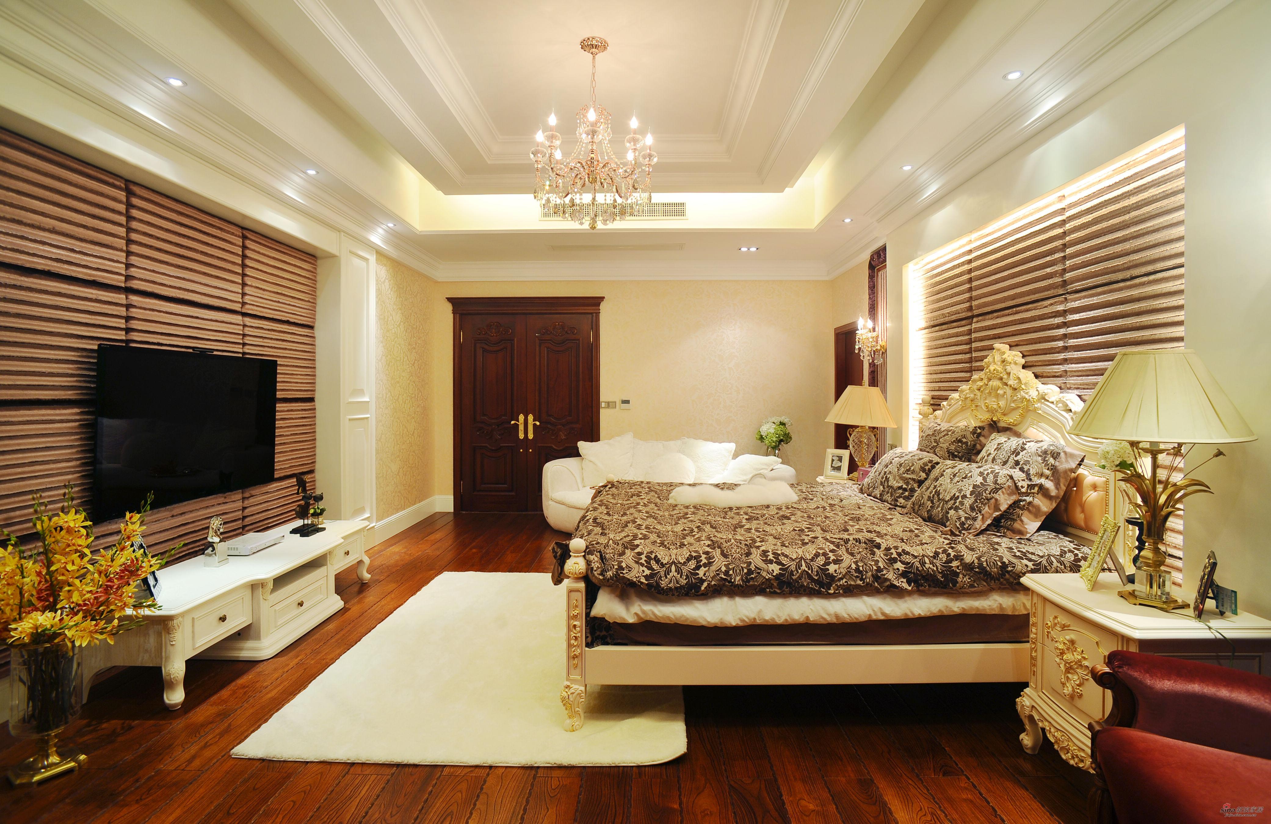 欧式 别墅 卧室图片来自用户2746953981在【高清】欧式风格奢华设计399平米大豪宅29的分享