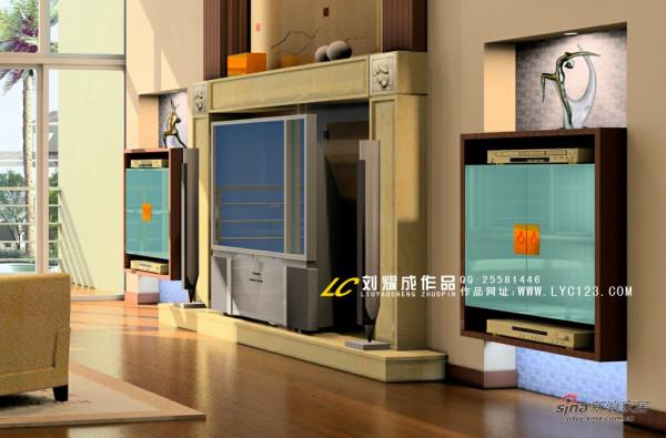 现代简约风格电视背景墙效果图