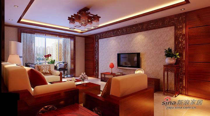 中式 三居 客厅图片来自用户1907658205在12万装修新古典中式130平北京风景三居案例22的分享