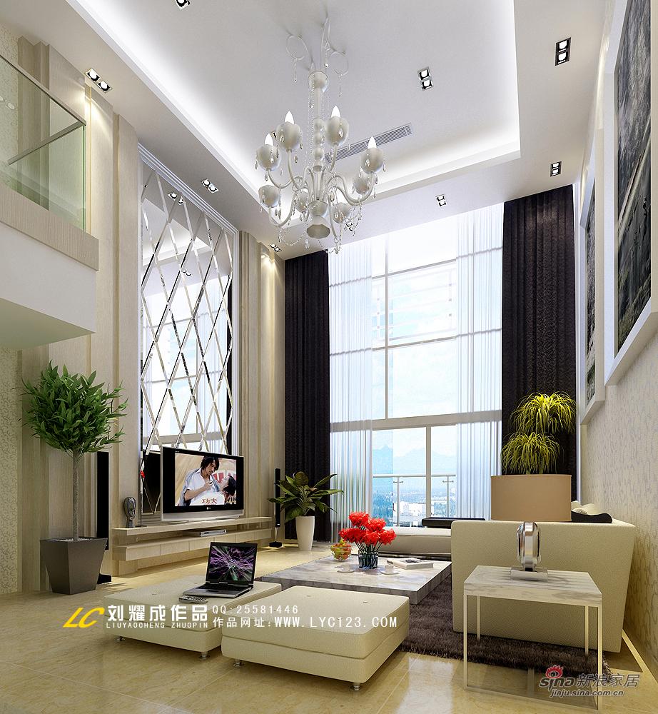 简约 复式 客厅图片来自用户2739153147在【高清】品味古典与现代交相辉映的复式豪宅58的分享