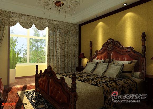 欧式 四居 卧室图片来自用户2772856065在160平米风尚欧式样板间87的分享
