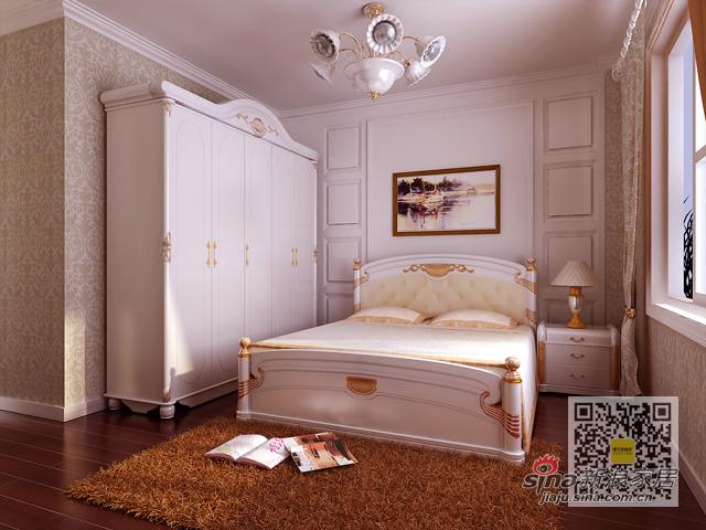 欧式 三居 卧室图片来自用户2746869241在140平三居室简欧风格装修设计案例94的分享