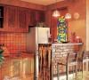 敞开式的厨房,量身订做的橱柜,有以下几个特点:1、制作橱柜时,预留出冰箱的位置,也就是说在设计时先了解冰箱的大小。 2、橱柜的上方用吊顶的办法来封闭,使之与橱柜一体化。。