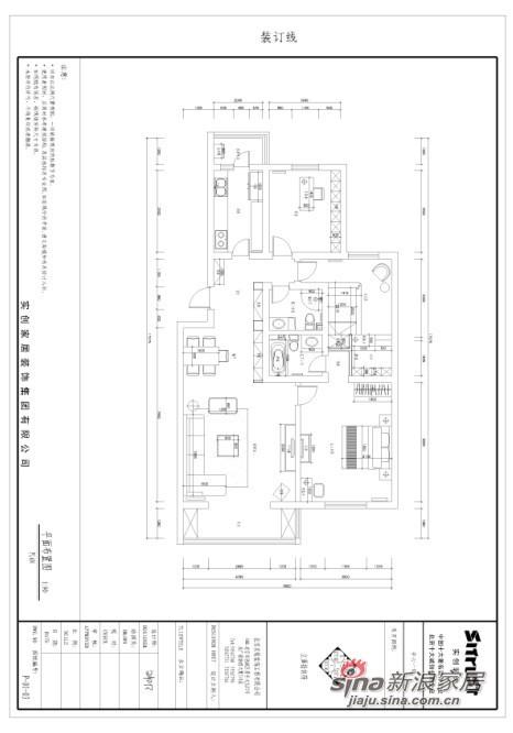简约 一居 户型图图片来自用户2738093703在瑞海家园124平简约大气设计31的分享