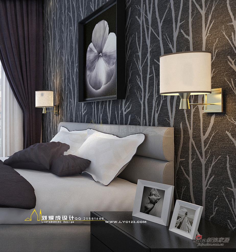 欧式 三居 卧室图片来自用户2746948411在【高清】暂别色彩的时光135平米33的分享