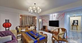 中式 三居 客厅 文艺青年图片来自家装大管家在【高清】150平儒雅时尚新中式3居72的分享