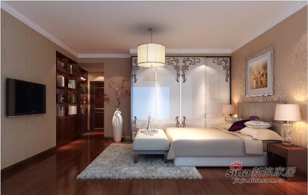 元洲案例龙邸(龙城花园五期)次卧室效果图