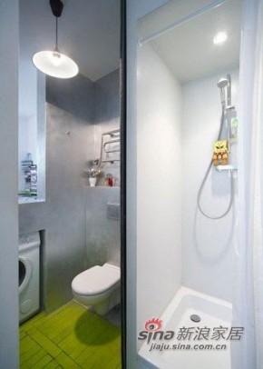 简约 一居 卫生间 屌丝 实用图片来自用户2557010253在设计创意十足的绿色小户型71的分享