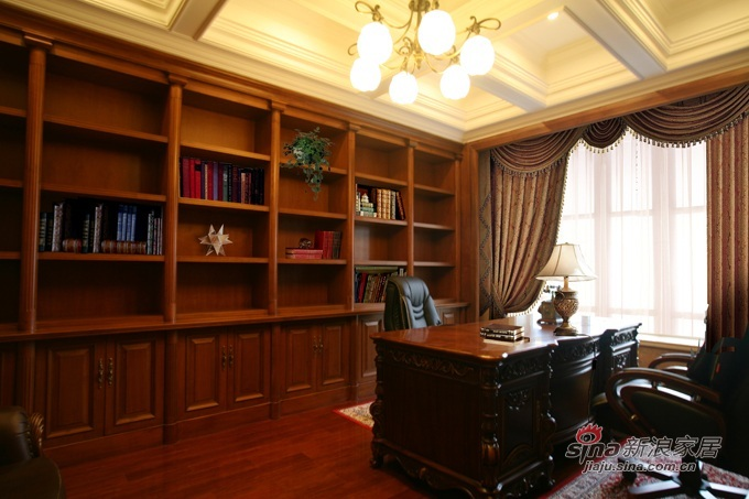 欧式 别墅 书房图片来自用户2772856065在碧水庄园A2户型—贵族的享受57的分享