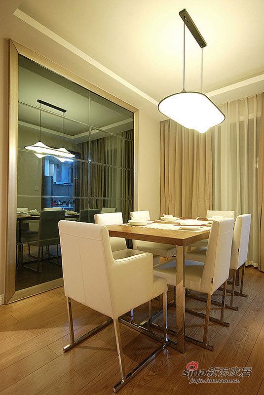 简约 三居 餐厅图片来自佰辰生活装饰在简约时尚120平摩登3居室家84的分享