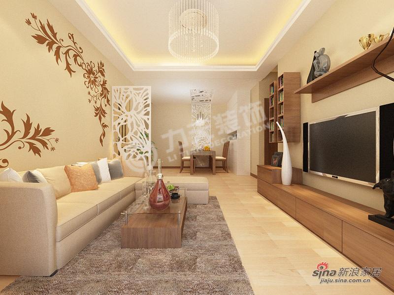 简约 二居 客厅图片来自阳光力天装饰在两室一厅现代简约美家54的分享