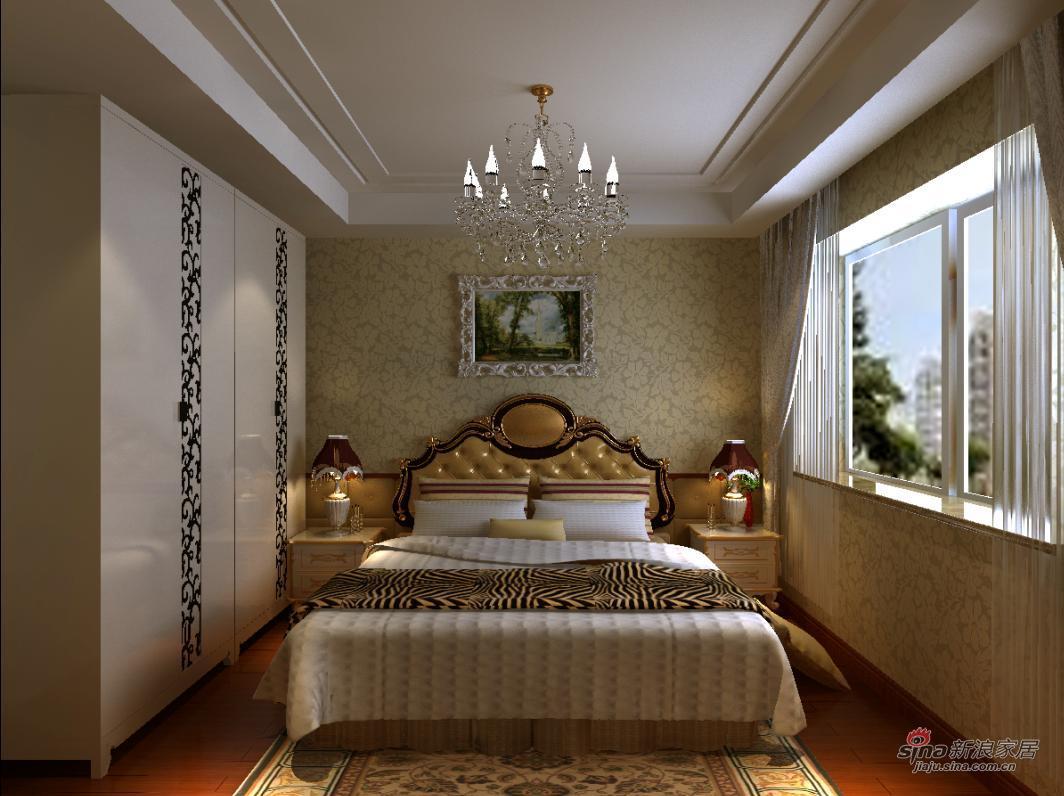 中式 别墅 卧室图片来自用户1907659705在中式古典配饰实景57的分享