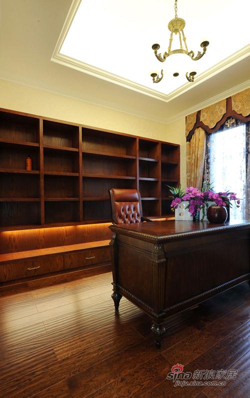 美式 复式 书房图片来自用户1907686233在【多图】美式乡村风格34的分享
