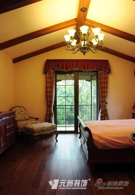 美式 别墅 卧室图片来自用户1907685403在【多图】美式风格别墅设计37的分享