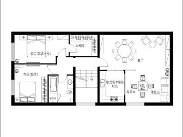 320平米欧式风格打造惬意浪漫别墅76