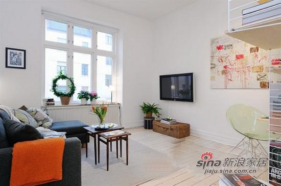 现代 二居 客厅图片来自xiaowu_15在45平小夫妻精致2居仅8万15的分享