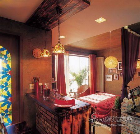 简约 一居 卧室图片来自用户2739153147在6w打造43平小户型迷人风情61的分享