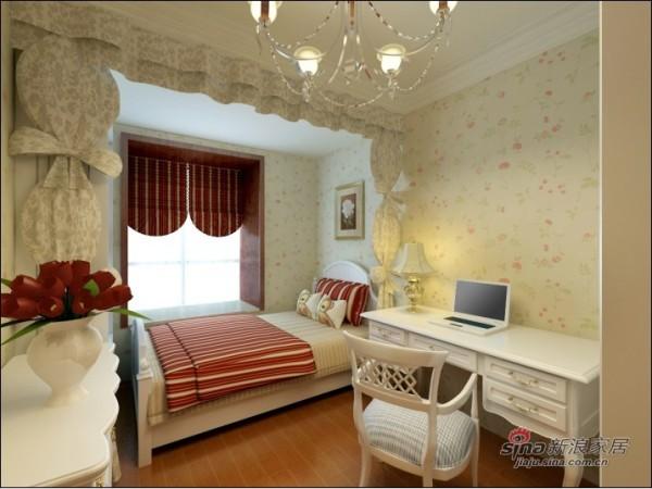 现代中式次卧室