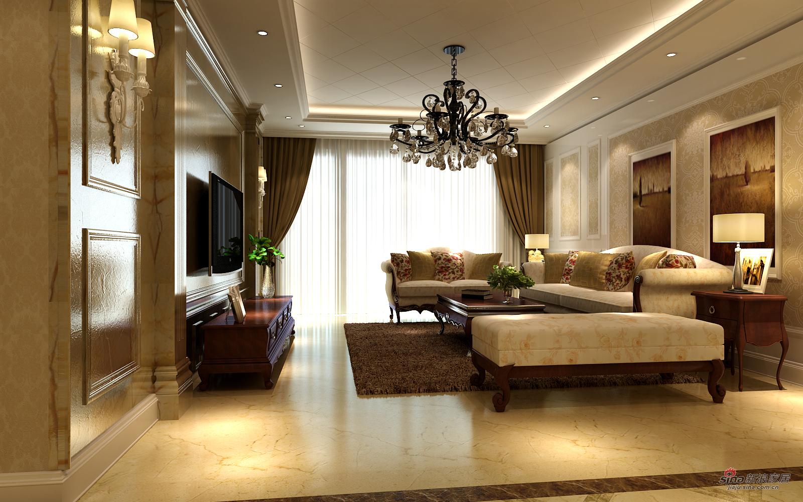 欧式 三居 客厅图片来自用户2772873991在夫妻的130平温馨小资婚房88的分享