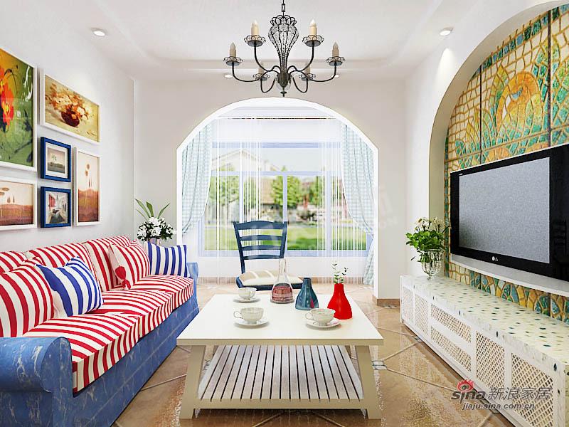 地中海 二居 客厅 80后图片来自阳光力天装饰在两室两厅地中海风格家装设计78的分享