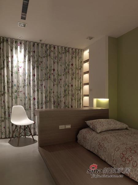 中式 loft 卧室图片来自用户1907658205在110平实景极奢loft 精致生活的完美体验74的分享