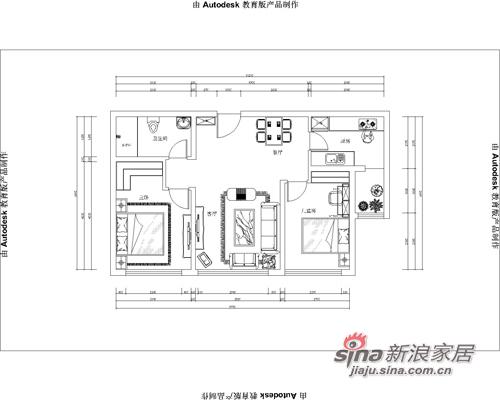 中式 二居 户型图图片来自阳光力天装饰在中式花格月亮门12的分享